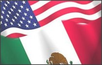 Flags of Mexico and the USA